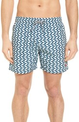 Ted Baker London Loxham Fish Geo Print Swim Short Navy