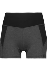 Purity Active Two Tone Mesh Paneled Stretch Shorts Dark Gray
