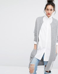 Selected Misa Longline Knitted Cardigan Grey
