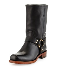 Frye Harness Artisanal Leather Mid Calf Boot Black