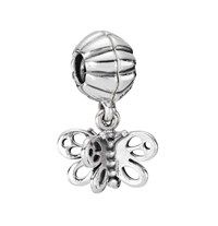Pandora Design Sterling Silver Butterfly Dangle Charm