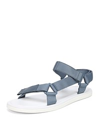 Vince Destin Leather And Nylon Sandals Blue