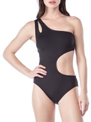 Kenneth Cole Reaction With The Band One Piece Cut Out Swimsuit Black