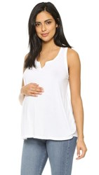 Splendid Maternity Fit Racer Back Tank White