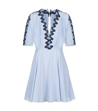 Sandro Mikky Embroidered Dress Female Blue