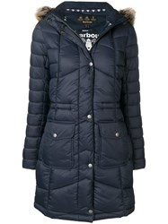 Barbour Fur Hood Trim Parka Blue