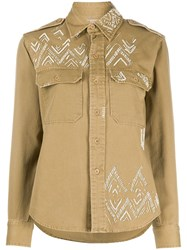 Polo Ralph Lauren Sequin Embroidered Long Sleeved Shirt 60