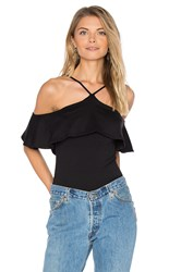 Susana Monaco Ruffle Top Black