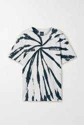 P.E Nation Real Challenger Tie Dyed Cotton T Shirt White