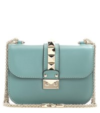 Valentino Lock Small Leather Shoulder Bag Green