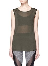 Koral 'Aura' Crisscross Back Tank Top Green