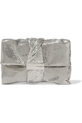Jimmy Choo Chandra Chainmail Clutch Silver