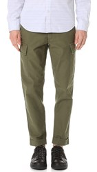 Club Monaco Tapered Military Trousers Olive