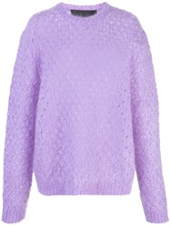 Marc Jacobs Long Sleeve Knitted Jumper Purple
