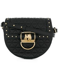 Balmain Studded Quilted Shoulder Bag Nappa Leather Black