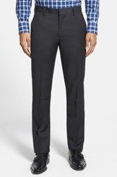 Bonobos 'Foundation' Flat Front Solid Wool Trousers Black