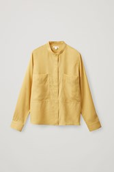 Cos Patch Pocket Shirt Yellow