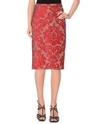 Just In Case Skirts Knee Length Skirts Women Brick Red
