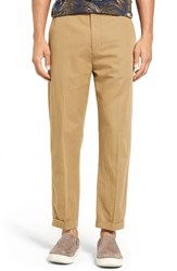 Vince Men's Relaxed Leg Cropped Cotton And Linen Pants