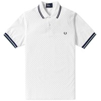 Fred Perry Printed Polka Dot Polo White