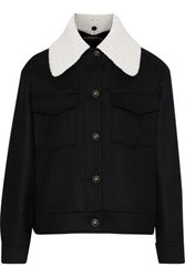 Alexachung Crochet Paneled Wool And Cashmere Blend Jacket Black