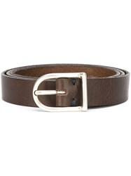 Eleventy Buclke Belt Brown