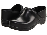 Sanita Professional Cabrio Mens Black Brush Off Leather Men's Clog Shoes