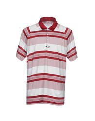 Oakley Polo Shirts Maroon