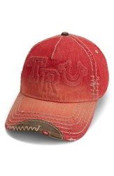 True Religion Men's Brand Jeans Denim Baseball Cap Red True Red