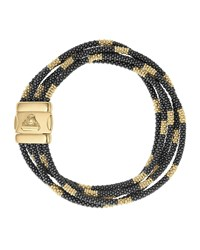Lagos Black Caviar And 18K Gold Five Strand Bracelet