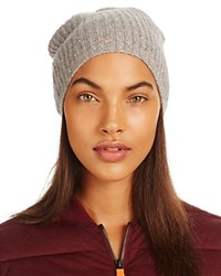Bloomingdale's C By Donegal Cashmere Hat 100 Exclusive Gray Funfetti