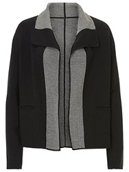 Betty Barclay Reversible Knitted Jacket Black Grey