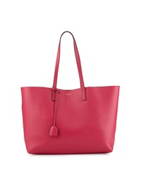 Saint Laurent Large Shopping Tote Bag W Painted Edges Fuchsia Pink Black