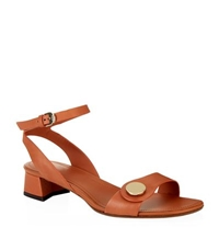 Tod's Low Block Heel Leather Sandal