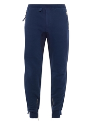 Alexander Mcqueen Dropped Crotch Cotton Track Pants