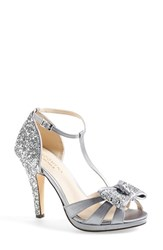 Menbur Women's 'Bornehl' Satin And Glitter Pump Silver