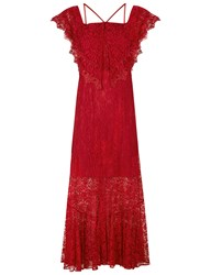 Alice Mccall Wine Lace Electric Woman Dress Red