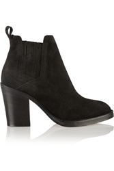 Maje Suede Ankle Boots Black