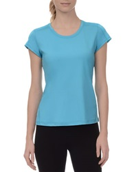 Danskin Essential Mesh And Jersey Tee Blue