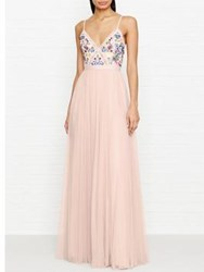 Needle And Thread Flower Foliage Maxi Dress Pink