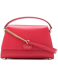 Lanvin Trapeze Tote Pink And Purple