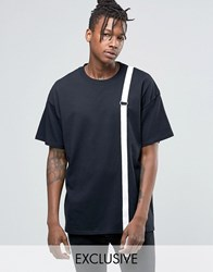 Reclaimed Vintage Oversized T Shirt With Straps Detail Black
