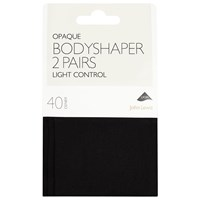 John Lewis 40 Denier Bodyshaper Opaque Tights Pack Of 2 Black