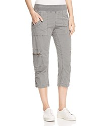 Xcvi Nadia Cropped Cargo Pants Rock Pigment