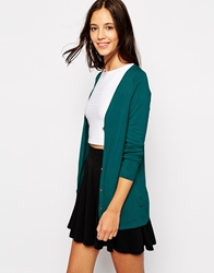 Pull And Bear Pullandbear Cardigan Teal