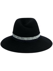 Maison Michel Virginie Fedora Hat Blue
