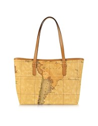 Alviero Martini 1A Classe 1A Prima Classe Geo Printed Medium New Basic Tote Bag Brown