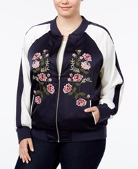 American Rag Trendy Plus Size Embroidered Bomber Jacket Only At Macy's Eclispe Combo