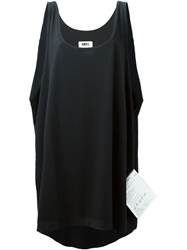 Mm6 Maison Margiela Long Oversized Tank Top Black