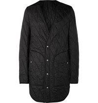 Rick Owens Quilted Shell Coat Black